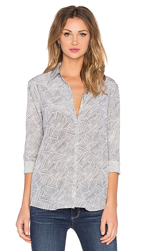 Bella Luxx Classic Button Up Top in Jacmel Print