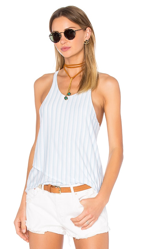 Bella Luxx Double Layer Racer Tank in White