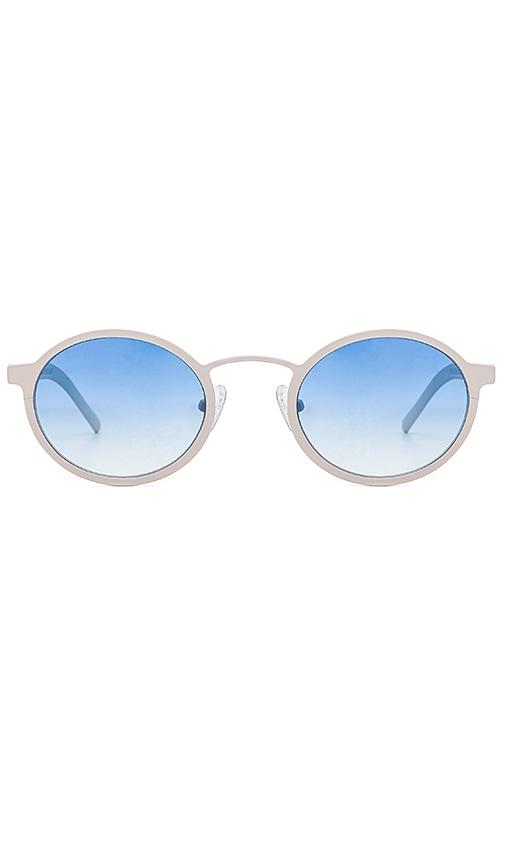 BLYSZAK Style II Metal Sunglasses in White