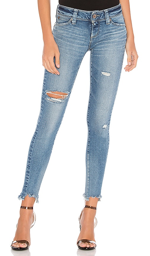 BRAPPERS DENIM Performance Skinny Hard Distressed in Light Blue