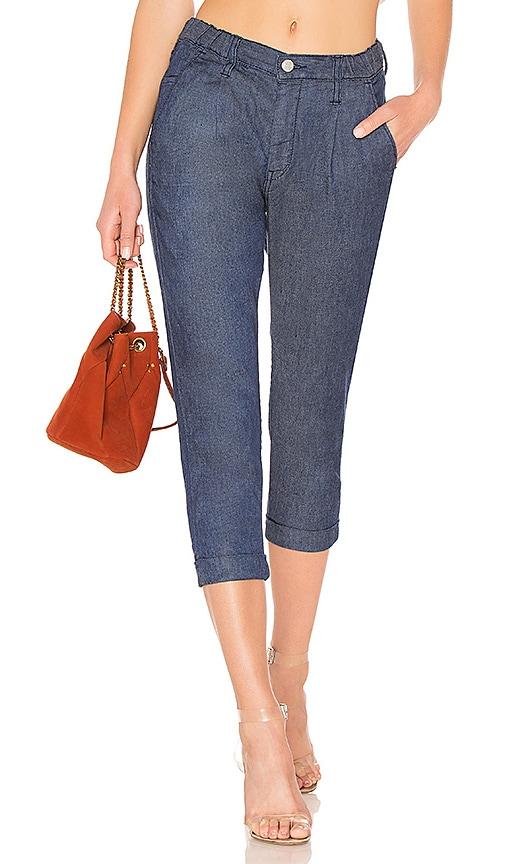 Brappers Denim Linen Trouser in Blue