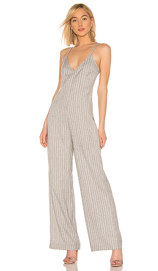 BLACK Cruise Stripe Jumpsuit