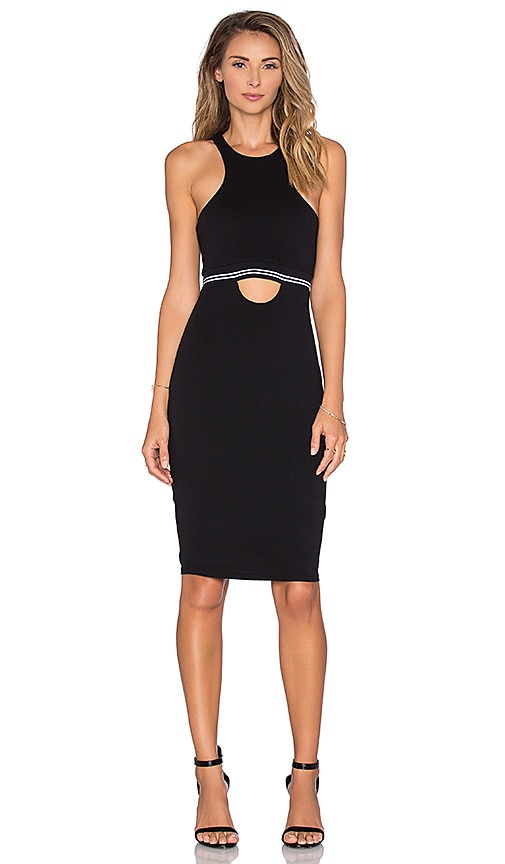 Pima Cotton Cut Out Midi Dress