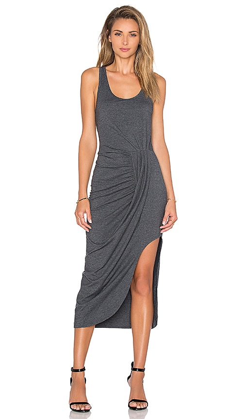 Relaxed Dress Jersey Asymmetrical Maxi Dress