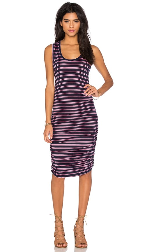 Double Stripe Jersey Scoop Neck Tank Dress
