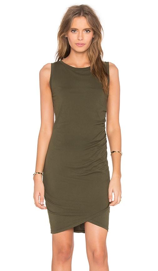 Bobi Supreme Jersey Cross Bottom Sleeveless Mini Dress in Tank