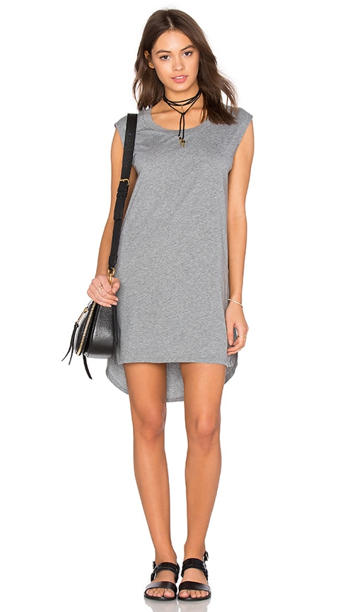 Bobi Supreme Jersey Cut Out Shift Dress in Gray