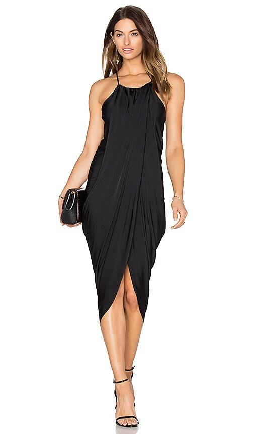 Bobi BLACK Luxe Liquid Jersey Tank Dress in Black