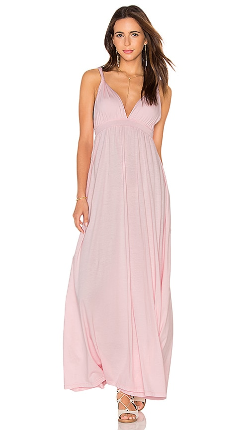 Bobi Supreme Jersey Maxi Tank Dress in Pink