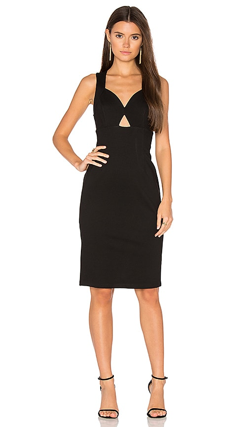 Bobi BLACK Bodycon Dress in Black