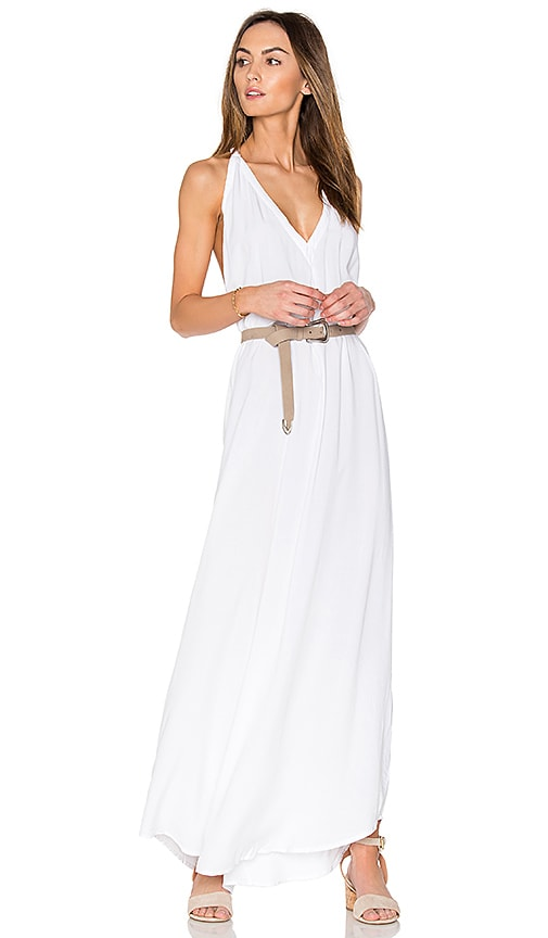 Bobi Y Back Maxi Dress in White