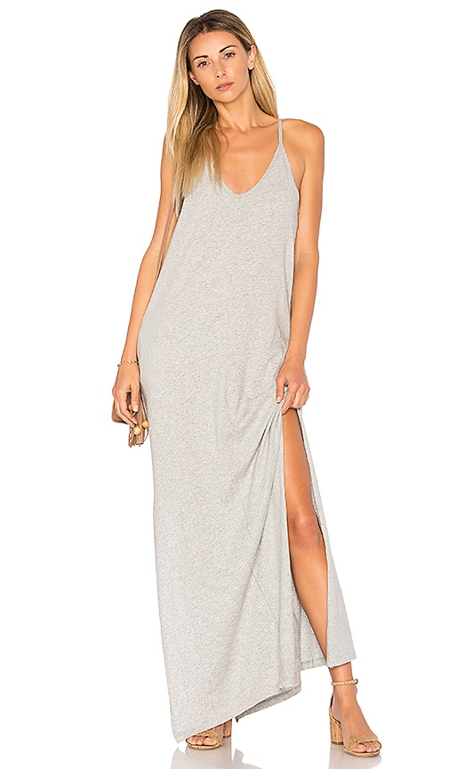 Bobi Supreme Jersey Maxi Dress in Gray