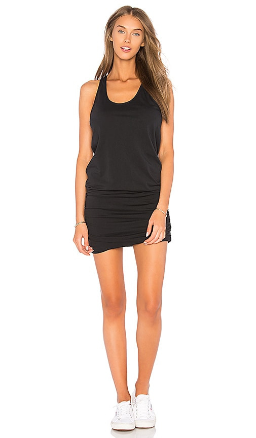 Bobi Supreme Jersey Ruched Dress in Black