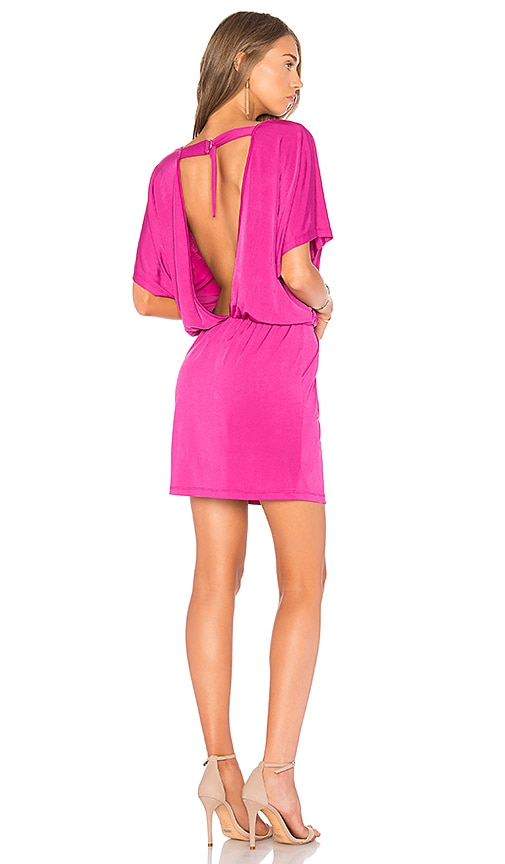 Bobi BLACK Open Back Dress in Pink