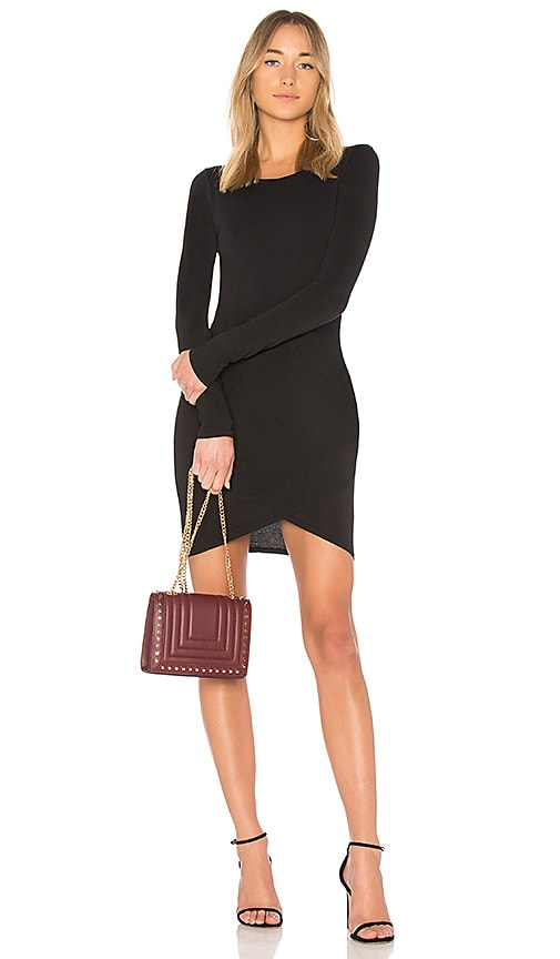 Bobi Supreme Jersey Wrap Dress in Black