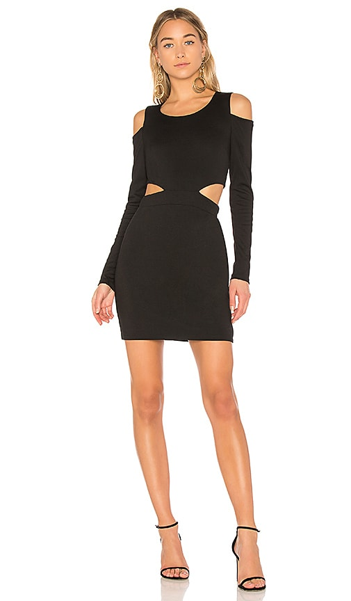Bobi BLACK Cut Out Mini Dress in Black
