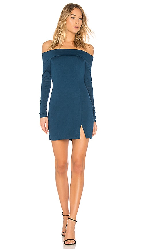 Bobi BLACK Off the Shoulder Dress in Teal