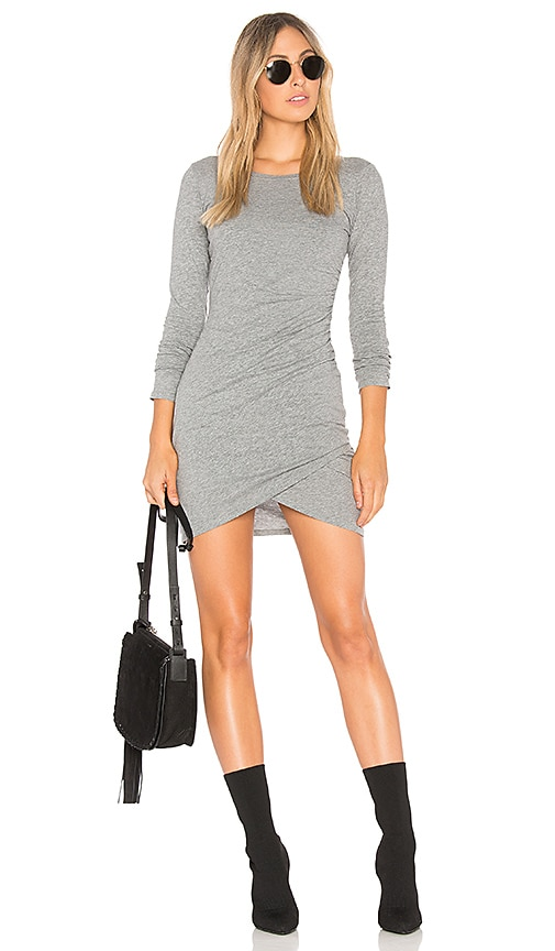 Bobi Supreme Jersey Wrap Dress in Gray