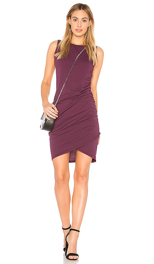 Bobi Supreme Jersey Wrap Dress in Purple