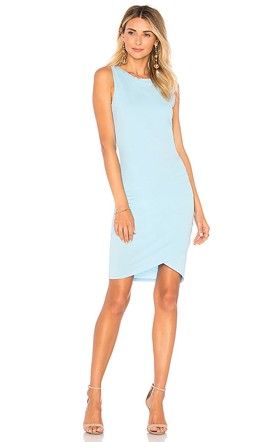 Bobi Supreme Jersey Dress in Blue