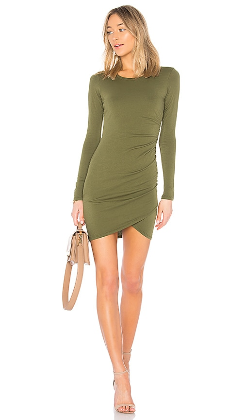 Bobi Supreme Jersey Mini Dress in Olive