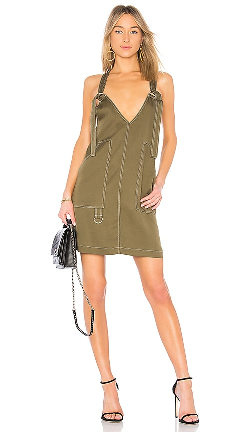 Bobi BLACK Mini Dress in Army