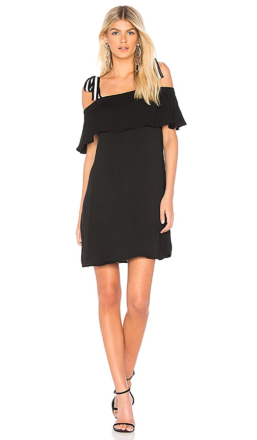 Bobi BLACK Tie Shoulder Dress in Black