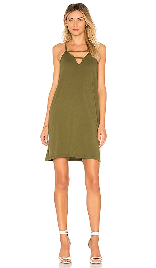 Bobi Supreme Jersey Slip Dress in Olive