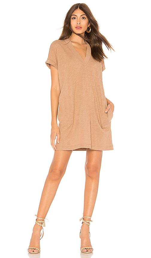 Slubbed Jersey Mini Dress