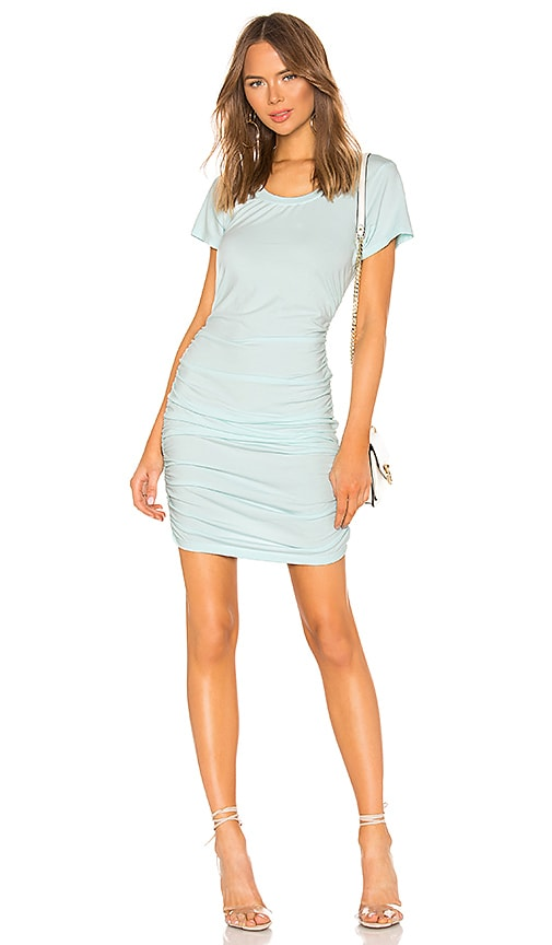 Draped Jersey Ruched Dress