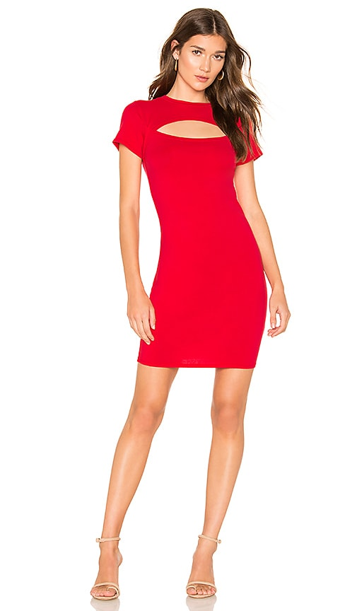 Draped Modal Jersey Bodycon Dress