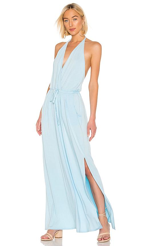 Draped Modal Jersey Maxi Dress