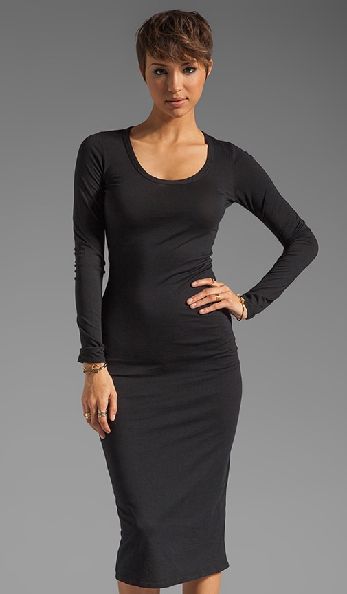 Modal Jersey Long Sleeve Dress