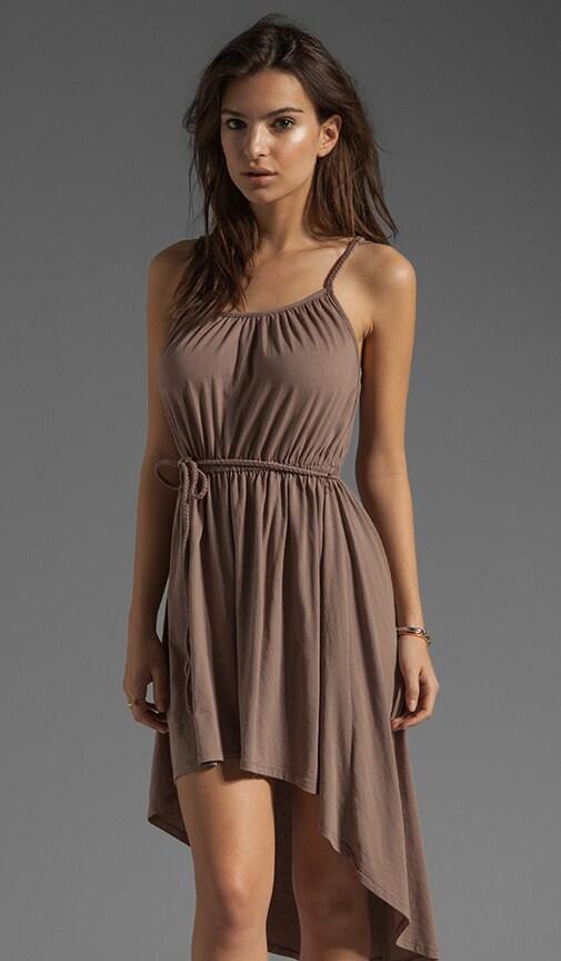 Supreme Jersey Tie Waist Asymmetric Dress