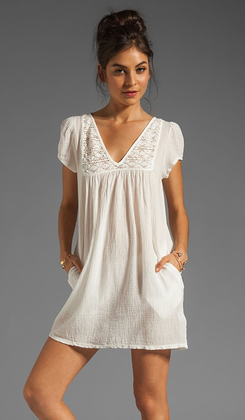 Gauze Mini Dress
