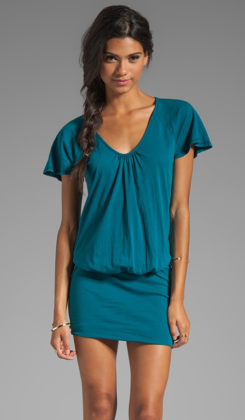Light Weight Jersey Scoop Neck Dress