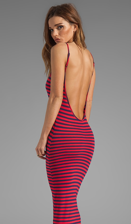 Stripe Low Back Dress