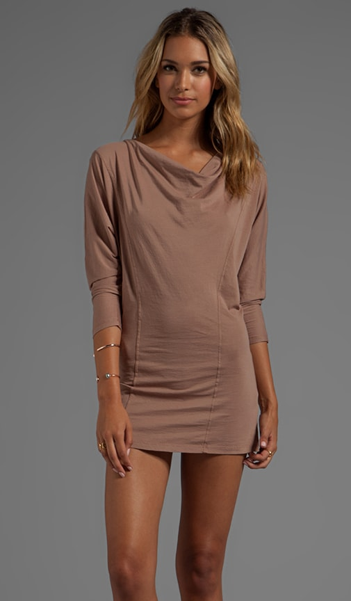 Supreme Jersey Long Sleeve Cowl Neck Dress
