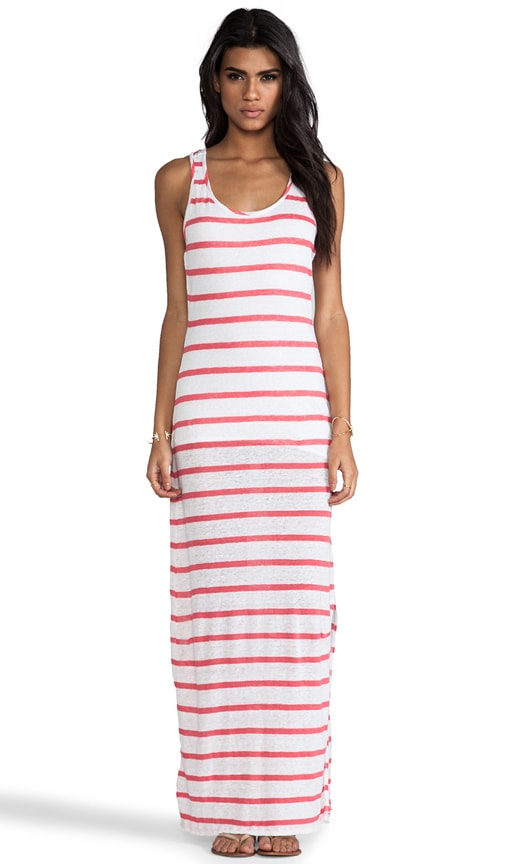 Linen Stripe Maxi Dress