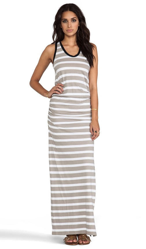 Light Weight Jersey Stripe Maxi Dress