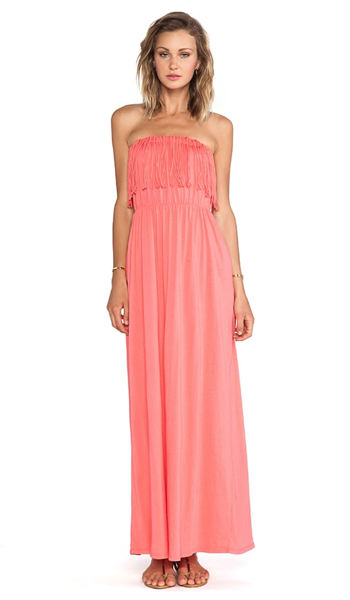Supreme Jersey Fringe Maxi Dress