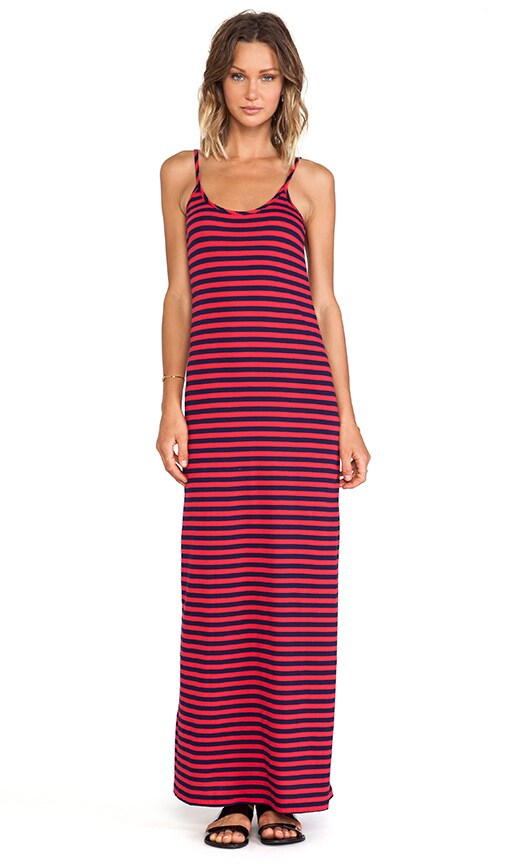 Light Weight Jersey Striped Maxi Dress