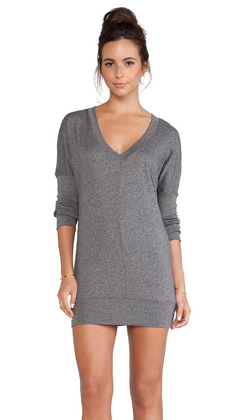 Long Sleeve Jersey V-Neck Dress