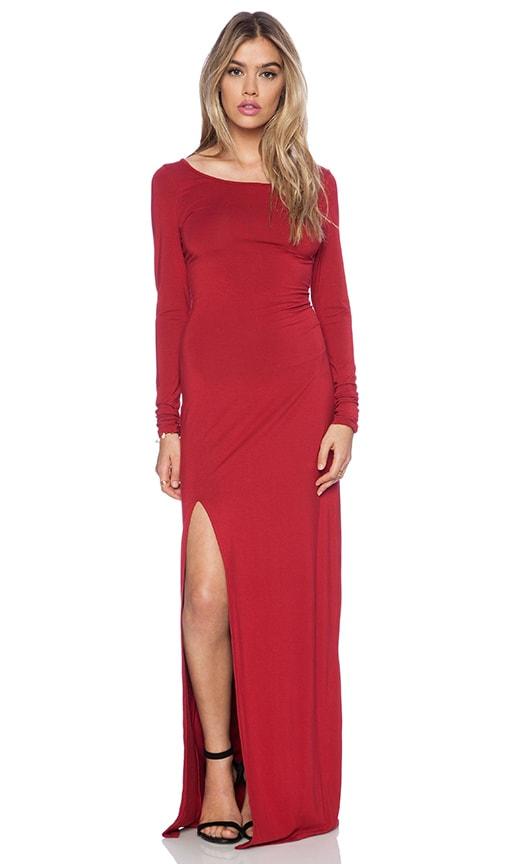 Rayon Rayon Jersey Long Sleeve Maxi Dress