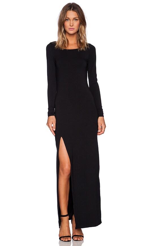 Rayon Jersey Long Sleeve Maxi Dress