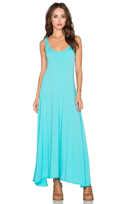 Bobi Supreme Jersey Racerback Maxi Dress in Dive