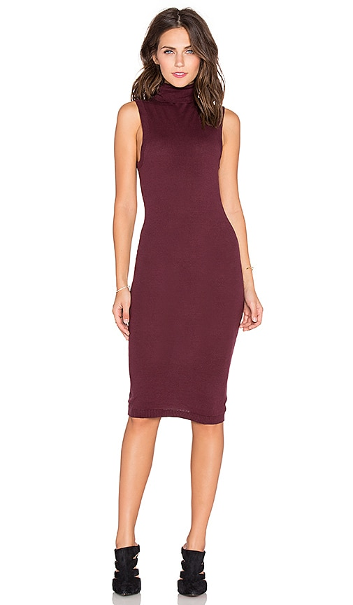 Funnel Neck Midi Sweater Dress
