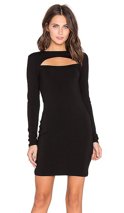 Bobi Jersey Cut Out Long Sleeve Midi Dress In Black Revolve