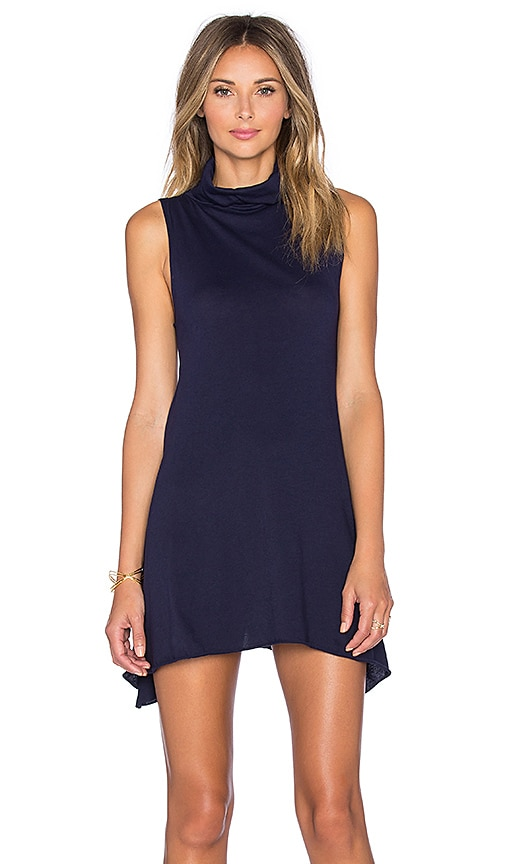 Light Weight Jersey Turtleneck Tank Dress