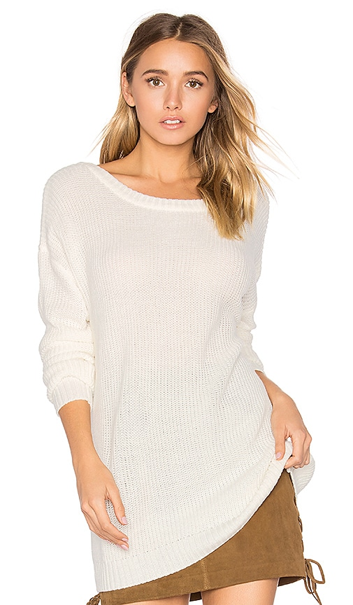d1b360a94e4 best Bobi Cashmere V Back Sweater in Bone - abratech.com.br